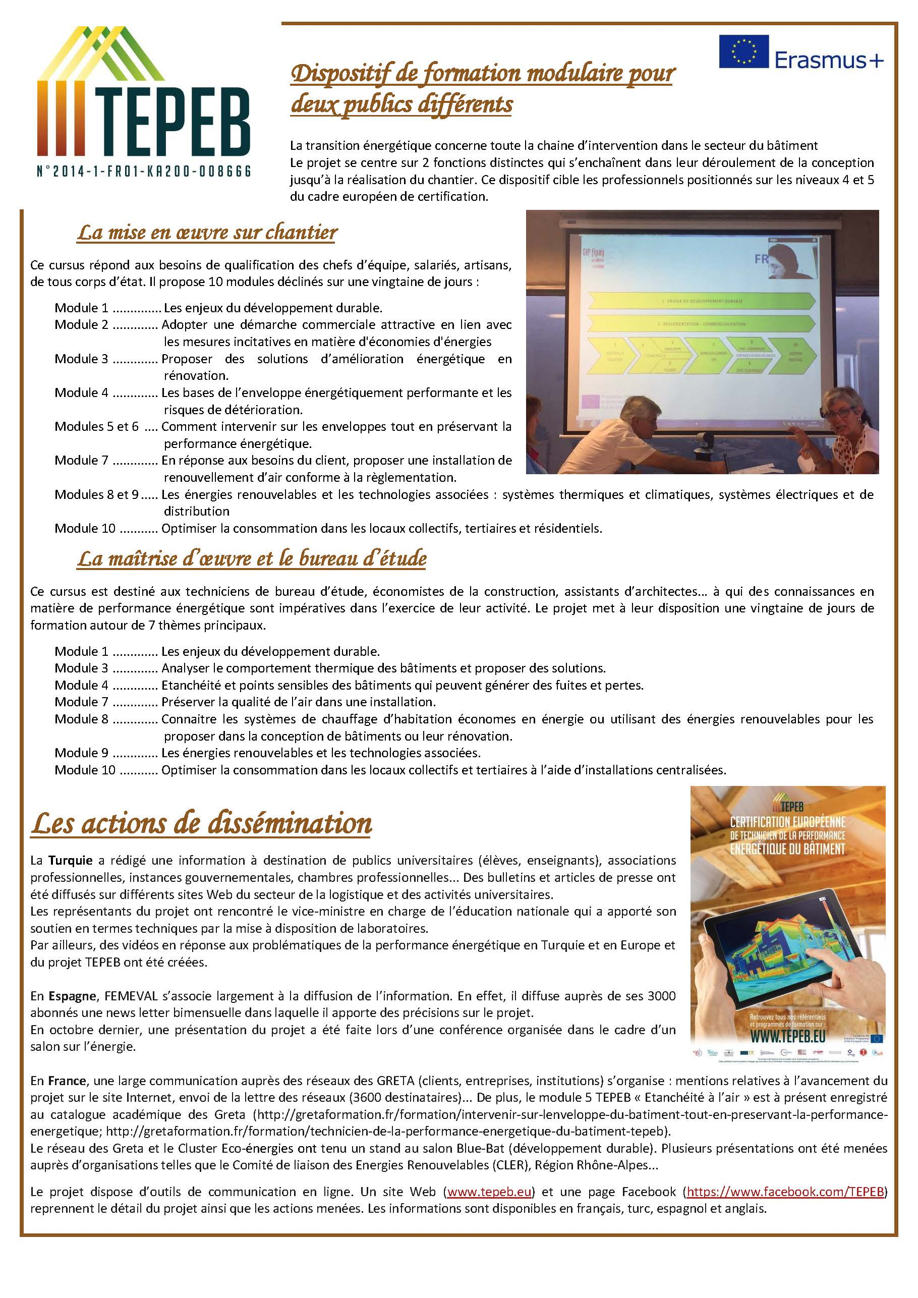 Premier Newsletter Du Projet Tepeb